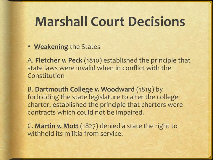 Marshall Court Decisions