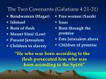 the two covenants galatians 4 21 31