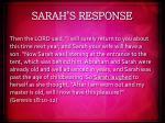 sarah s response