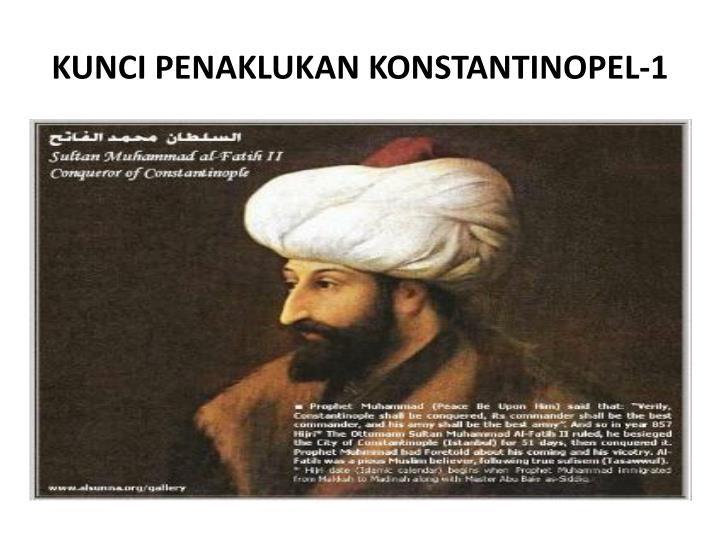 KUNCI PENAKLUKAN KONSTANTINOPEL-1