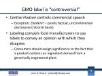 gmo label is controversial