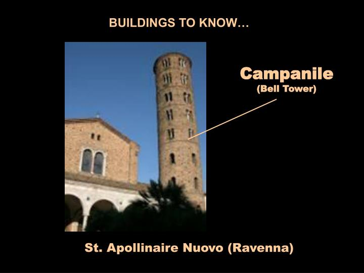 BUILDINGS TO KNOW…