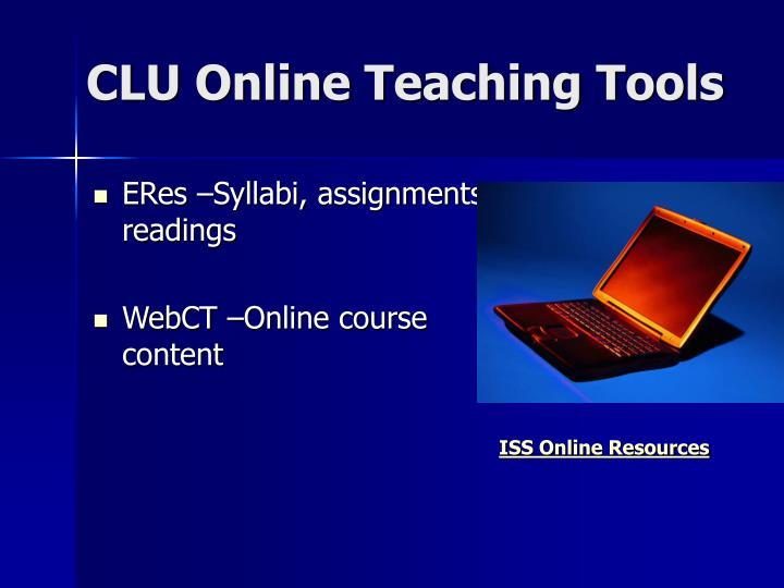 CLU Online Teaching Tools