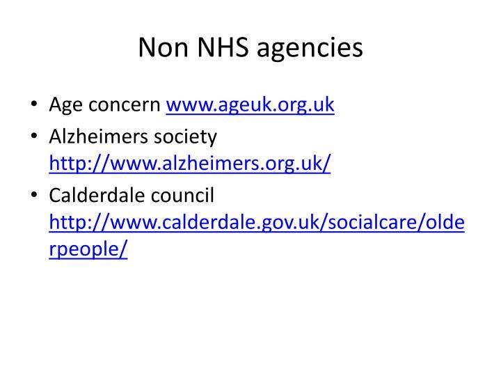 Non NHS agencies