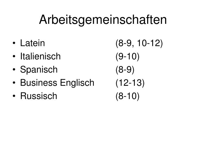 Arbeitsgemeinschaften1
