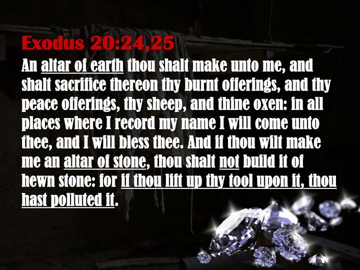 Exodus 20:24,25