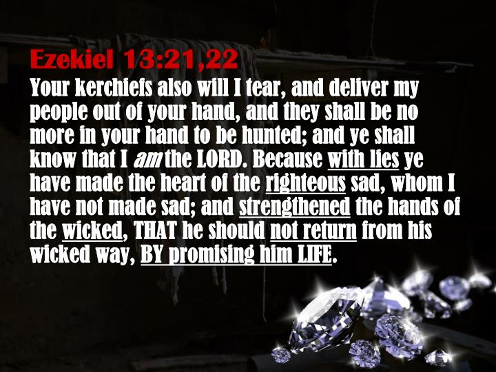 Ezekiel 13:21,22