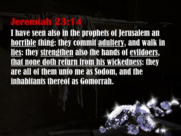 Jeremiah 23:14