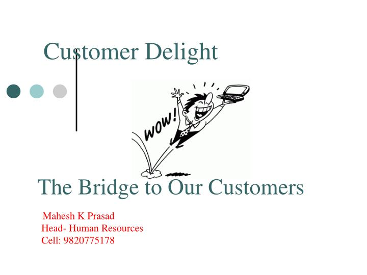 importance of customer delight Customer delight is about going the extra mileand to delight your customers in a sustainable way, you need to take a strategic approach if wowing your customers and clients is important to you, there's no need to guess about whether your efforts are workingor to make it up as you go along.