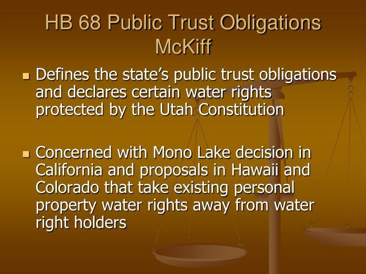 HB 68 Public Trust Obligations