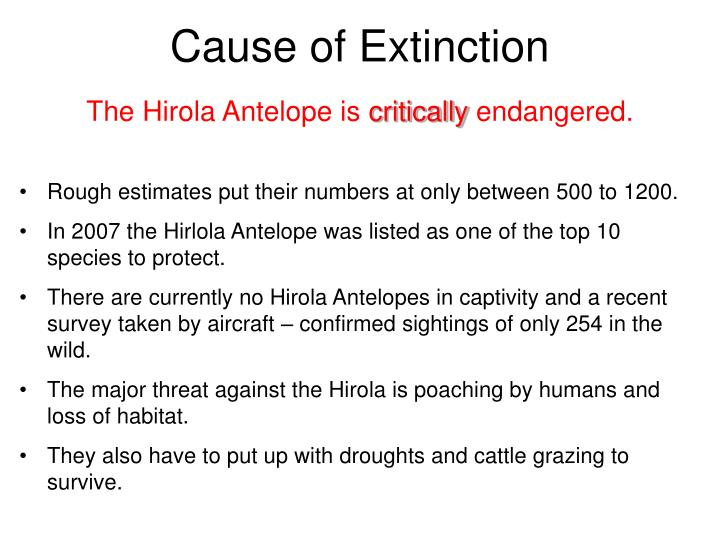Cause of Extinction