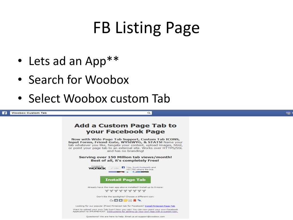 PPT - Facebook Page's for All of Your Listings PowerPoint