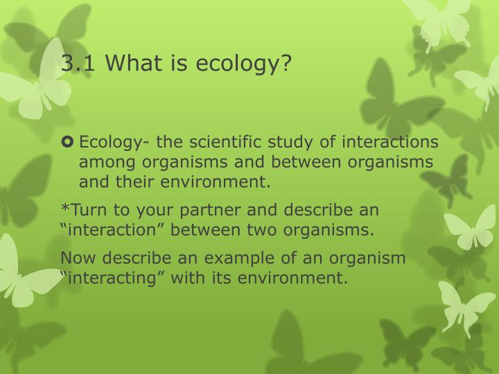 3 1 what is ecology
