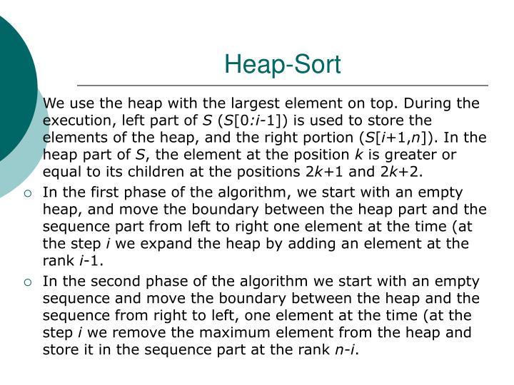 Heap-Sort