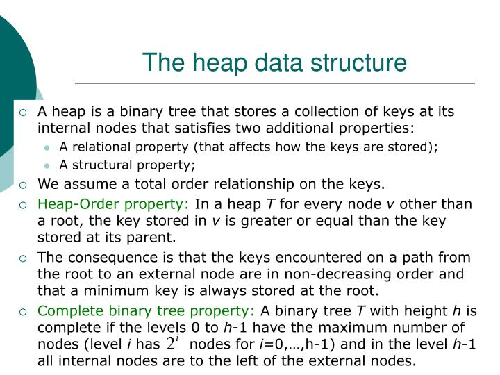 The heap data structure