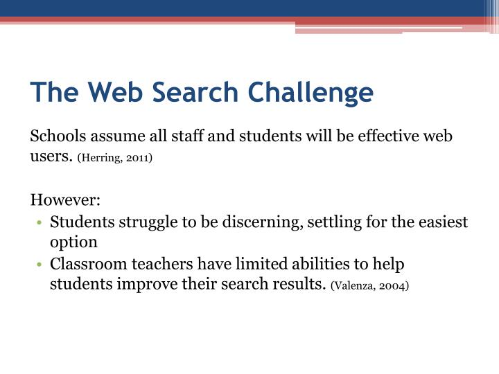 The Web Search Challenge