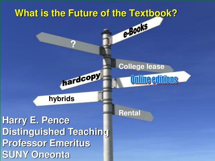 what is the future of the textbook n.