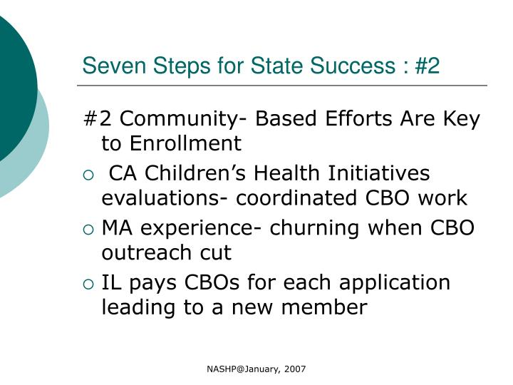 Seven Steps for State Success : #2