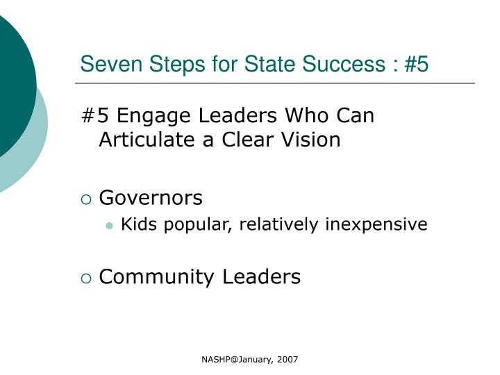Seven Steps for State Success : #5