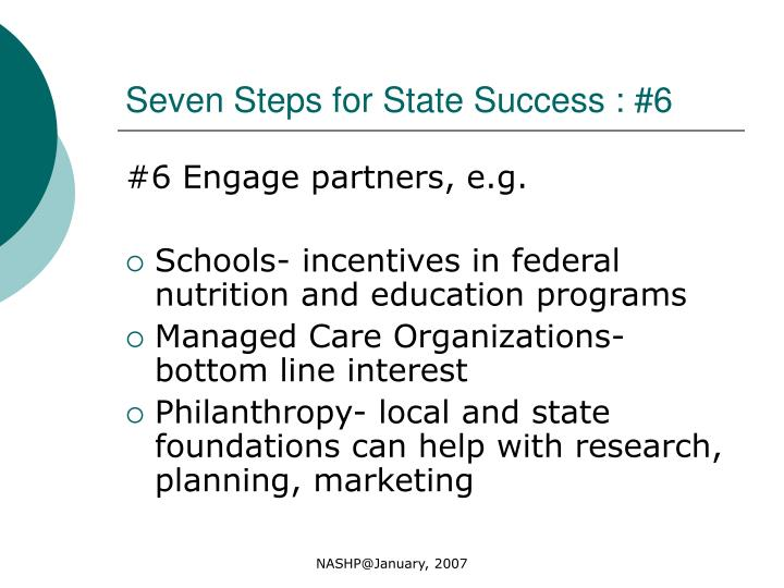 Seven Steps for State Success : #6
