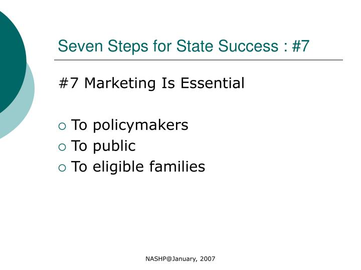 Seven Steps for State Success : #7