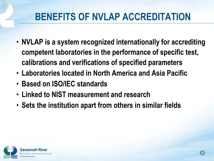 Benefits of nvlap accreditation