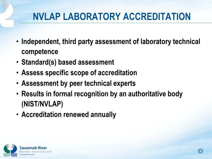 NVLAP LABORATORY ACCREDITATION