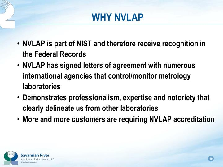 WHY NVLAP