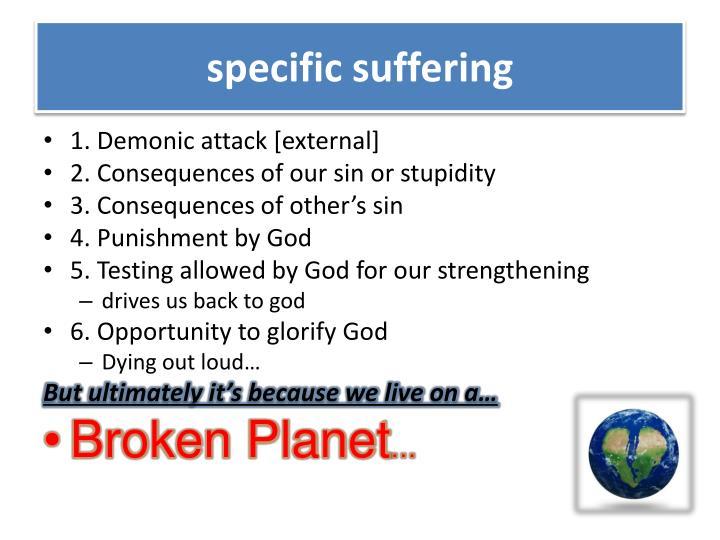 specific suffering