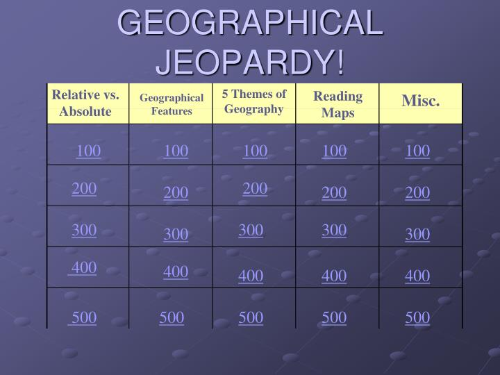geographical jeopardy n.