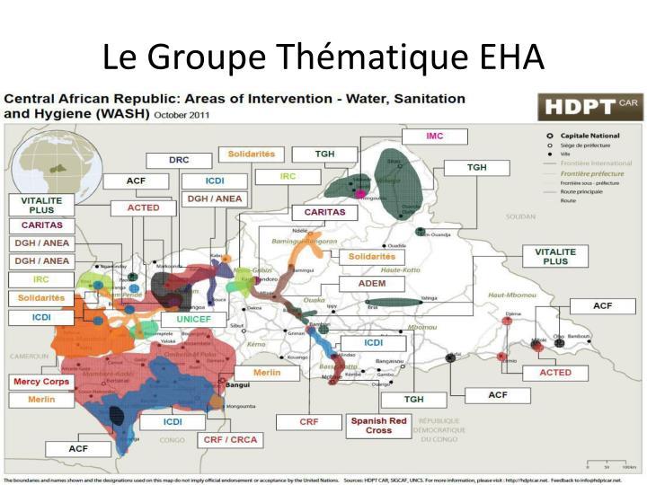 Le Groupe Thématique EHA