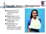 shoulder injury management