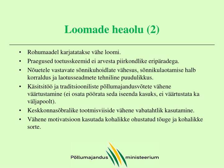 Loomade heaolu (2)