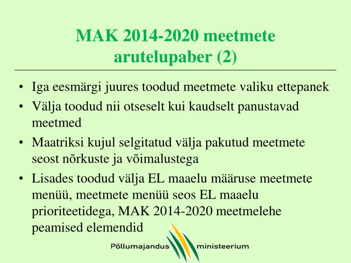 MAK 2014-2020 meetmete arutelupaber (2)