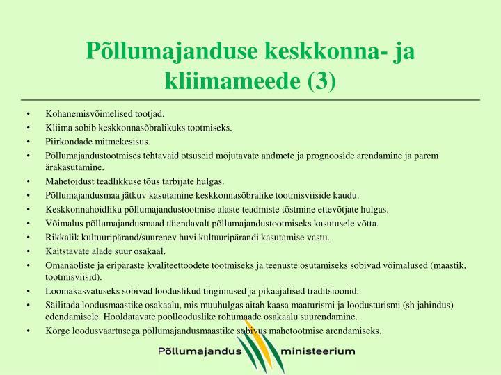 Põllumajanduse keskkonna- ja kliimameede (3)