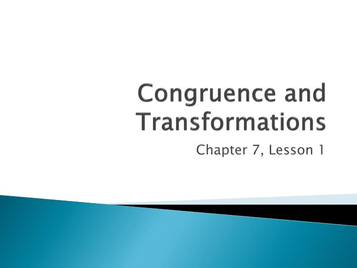 congruence and transformations n.