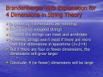 brandenberger vafa explanation for 4 dimensions in string theory