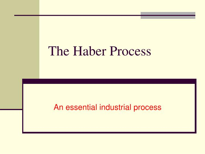 the haber process n.