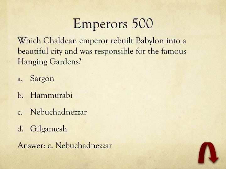 Emperors 500