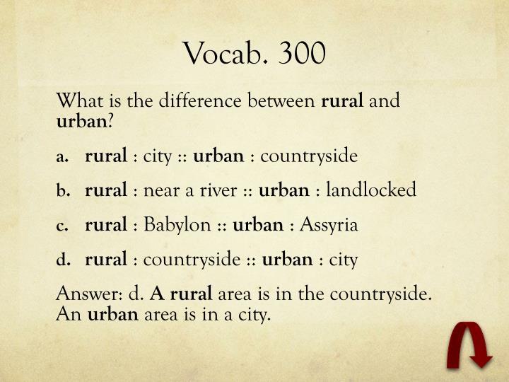 Vocab. 300