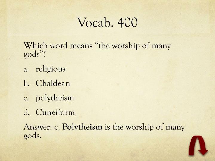 Vocab. 400