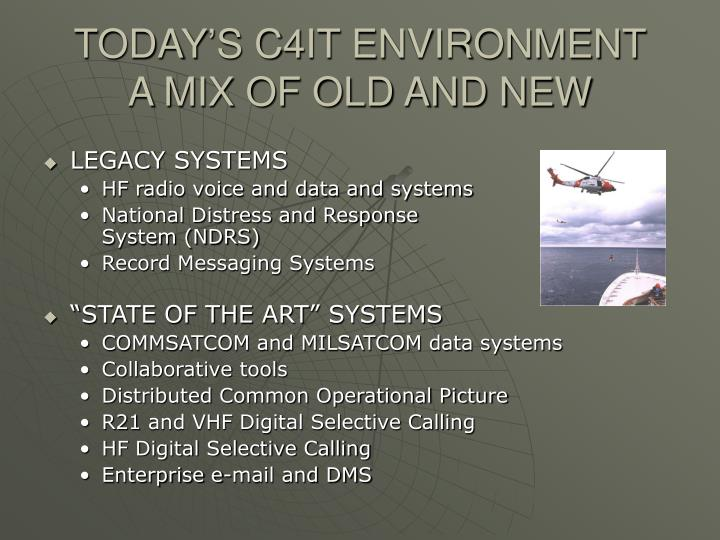 TODAY'S C4IT ENVIRONMENT