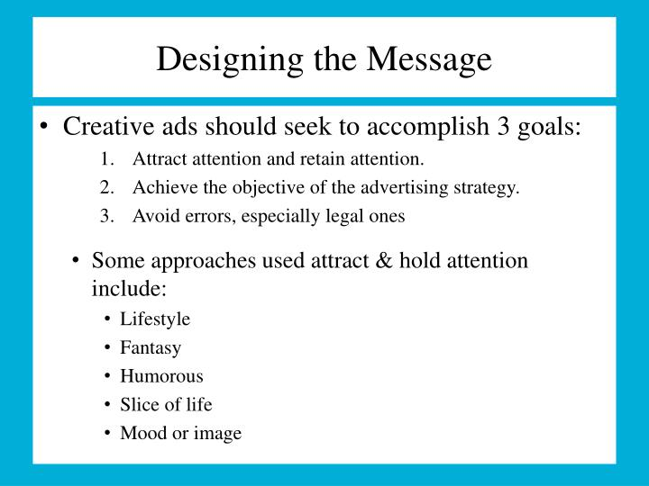 Designing the Message