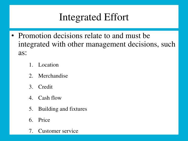 Integrated Effort
