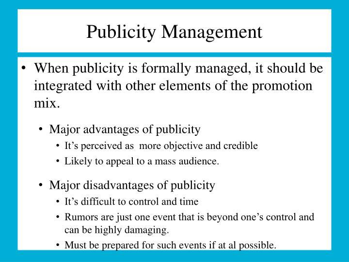 Publicity Management