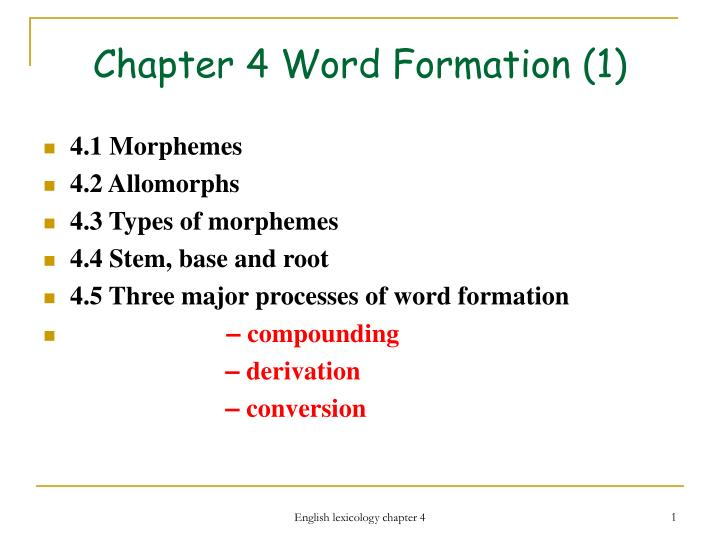 chapter 4 word formation 1 n.