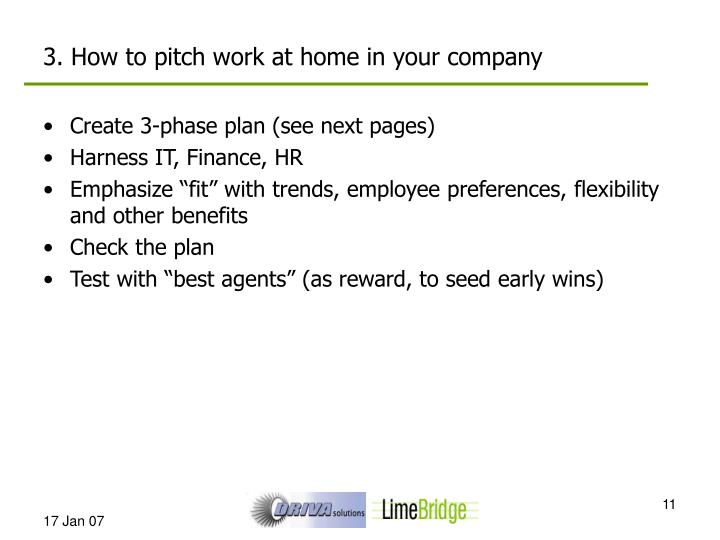 3. How to pitch work at home in your company