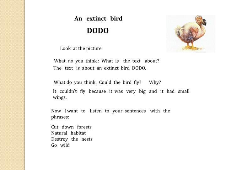 An   extinct   bird