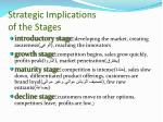 strategic implications of the stages