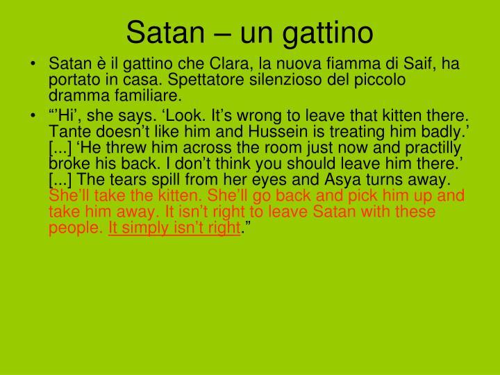 Satan – un gattino